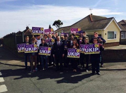 Nigel Farage doorstepping in South Thanet in Kent. Image: @UKIP