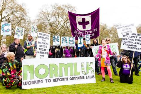 Legalise cannabis festival in Hyde Park. Image: Norml-UK