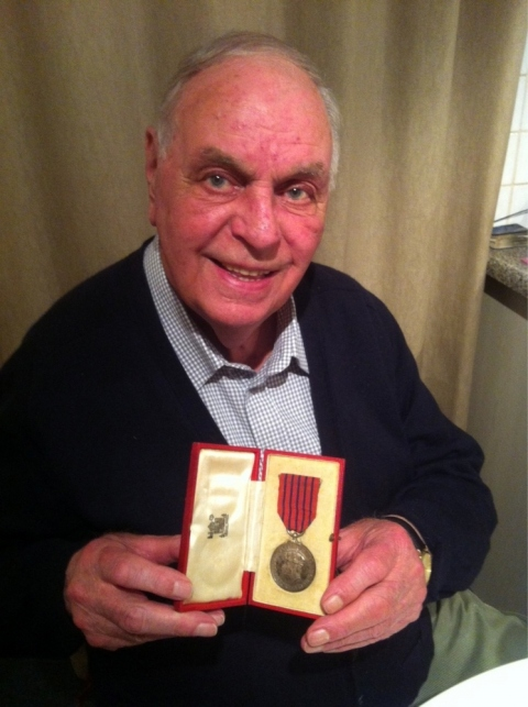 PC Ivan King with his George Medal in April 2013. Image: Met Police
