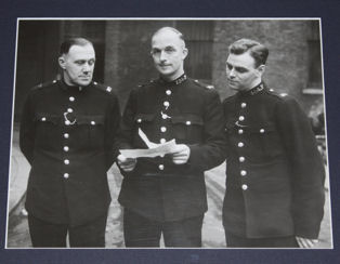 PCs McCallum, Ashwin and King at their investiture in 1951. Image: Met Police