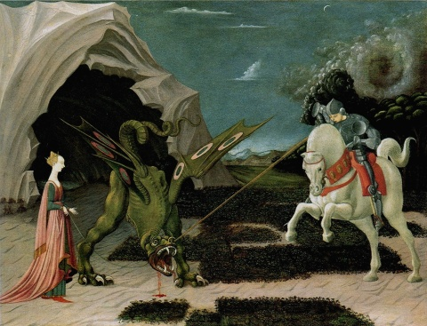 """Paolo Uccello 047b"" by Paolo Uccello - [1]. Licensed under Public Domain via Wikimedia Commons"