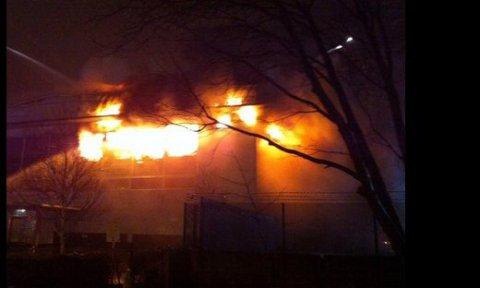 Huge blaze at Park Royal Industrial estate unit. Image: @LAS_HART