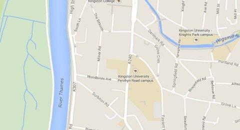 Penrhyn Road, Kingston. Scene of Tuesday night fatal collision. Image: Google Maps