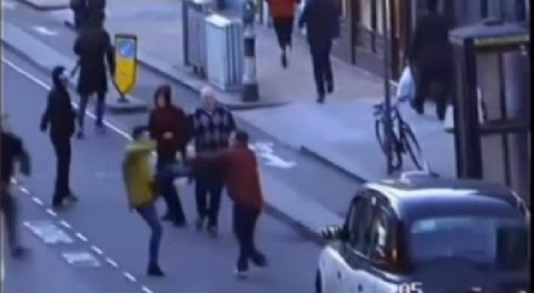 Violent disorder in Harrow between QPR and Burnley fans. Image: Met Police