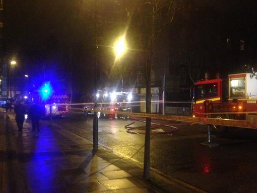 70 firefighters and ten appliances at scene of Rollit Street blaze early hours of the morning. Image: @MPSHarrow