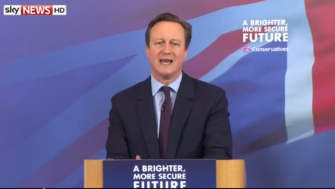 David Cameron launching English Manifesto