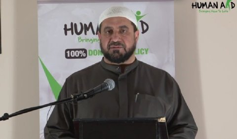 Sheikh Abdul-Hadi Arwani. Image: HumanAidUK https://www.youtube.com/watch?t=26&v=Vn5mr-k87EE