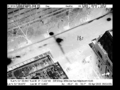 Thermal imaging from police helicopter revealed to the London Fire Brigade the ferocity and intensity of the underground blaze. Image: @NPAS_Redhill