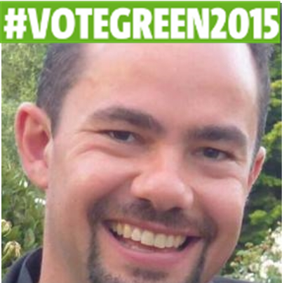 Tom Sharman, Green Party candidate. Pic: @Tom_Sharman