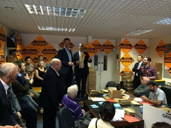 Liberal Democrat Leader Nick Clegg visits his Deputy Leader's campaign in Bermondsey & Old Southwark. Image: @LibDems