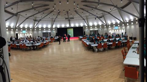 Counting begins for Brent Central (on left) and Brent North (on right). Image: Emily Browne.