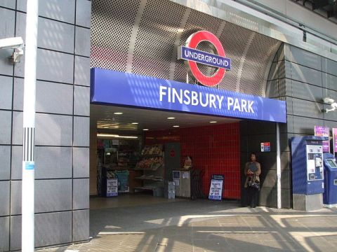 """Finsbury Park tube stn entrance Station Place"" by Sunil060902 - Own work. Licensed under CC BY-SA 3.0 via Wikimedia Commons."
