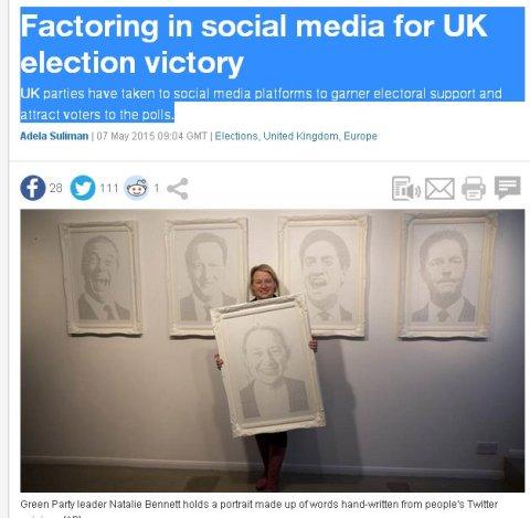 Al Jazeera's focus on social media role in General Election campaign. Screen grab Al Jazeera.