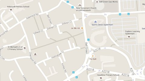 Bell Green Sydenham. Image: Google Maps