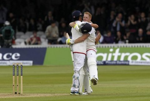 Ben Stokes has scored the fastest test century at Lords. Image: @englandcricket