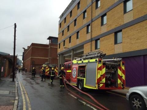 Fire in underground car-park at hotel in Bexleyheath under control. Image: @LondonFire