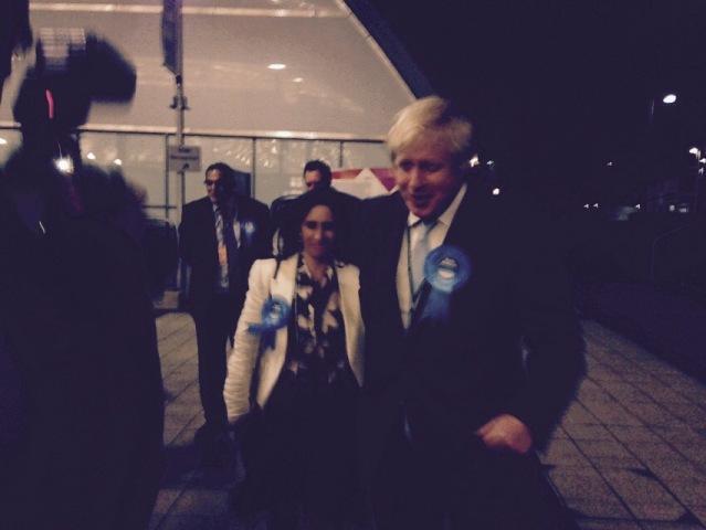 Boris Johnson has arrived with his wife Marina Wheeler.