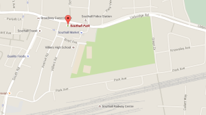 The attack took place in Southall Park, Ealing. Image: Google Maps.
