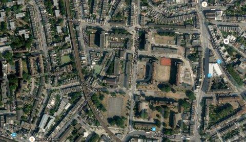 Castlehaven Road, Camden. Image: Google Satellite