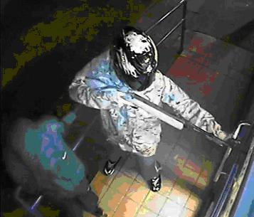 A CCTV still of the raid in Leicestershire. Image: Met Police.