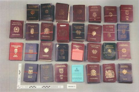 Fake passports- used in identity fraud. Image: Met Police