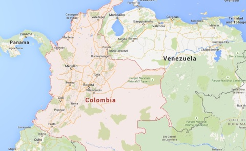 Colombia, Latin America. 150 Colombian suspects entered the UK using false identification. Image: Google Maps
