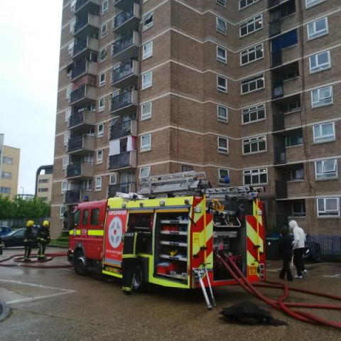 London Fire Brigade impressed with how flat residents were prepared for a fire. Image: @LondonFire