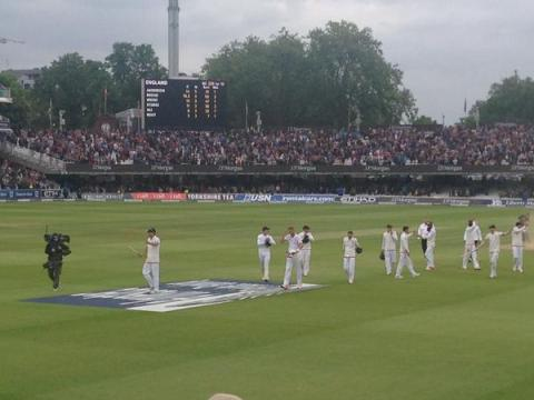 England win by 124 runs at Lords. Image: @englandcricket