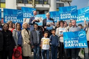 Croydon Central Conservative candidate Gavin Barwell with Boris Johnson. Image: Gavin Barwell