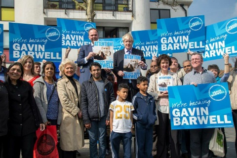 Croydon Central Conservative candidate Gavin Barwell with Boris Johnson. Image: Gavin Barwell