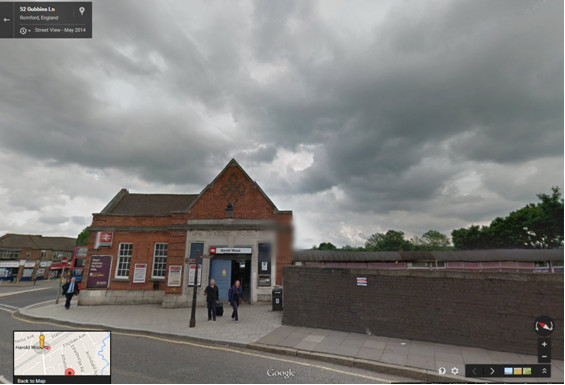 Harold Wood station. Image: Google Street View. Click for link.