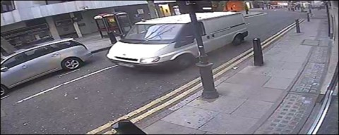 The hunt for the white van in Hatton Garden jewellery heist inquiry. Image: Met Police