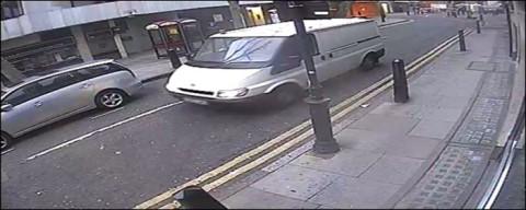 The hunt for the white van in Hatton Garden jewellery heist inquiry. Image: Met Police