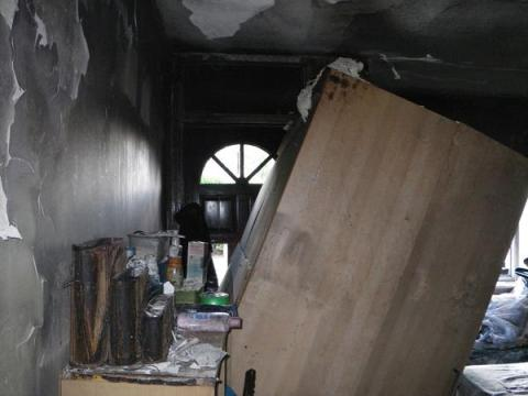 The scene of the fire leading to the death of a tenant in Hounslow in 2013. Image@LondonFire