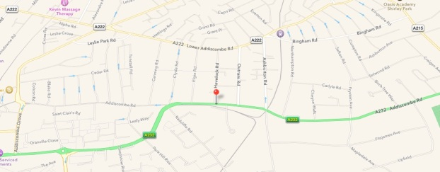 A fire broke out today on Addiscombe Road causing the death of an elderly man. Image: Google Maps