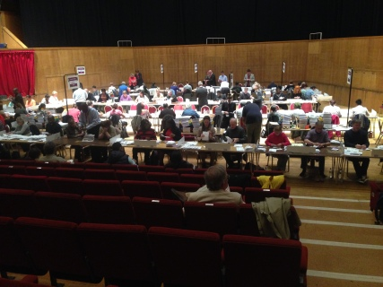 North counting ballot papers in Croydon. Image by Roza Dawood