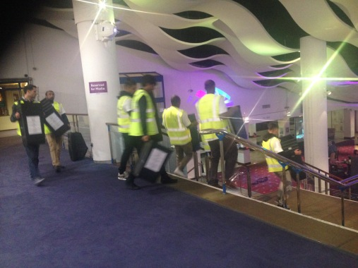 End of stage one of counting ballot papers. Image : Roza Dawood
