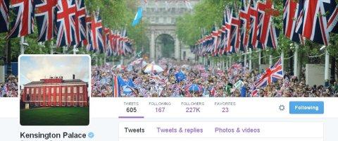 @KensingtonPalace Twitter feed.