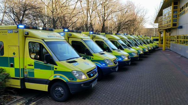 London Ambulance Service Vehicles. Image: LAS.