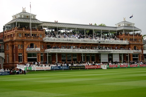 """Lord's Pavilion"" by Ben Marsh. Licensed under CC BY-SA 2.5 via Wikimedia Commons -"