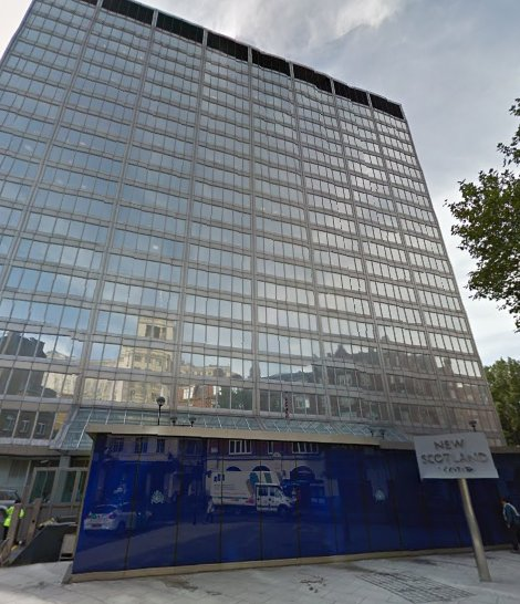 Met Police HQ, New Scotland Yard. Image: Google street view.