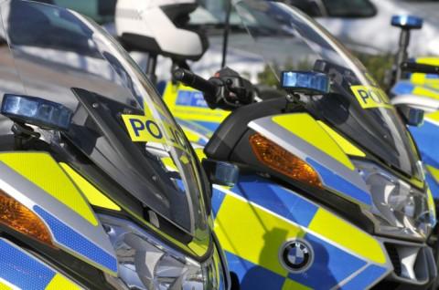 Met Police motorcycles. Image: Met Police