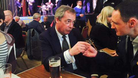 Nigel Farage too good a political leader to lose for UKIP. Image: Ukip Facebook.