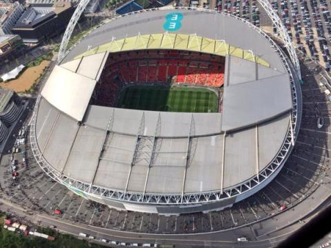 Arsenal's 19th FA Cup final and their record 12th win- one more than Manchester United- seen by NPAS helicopter in the sky. @NPASLondon