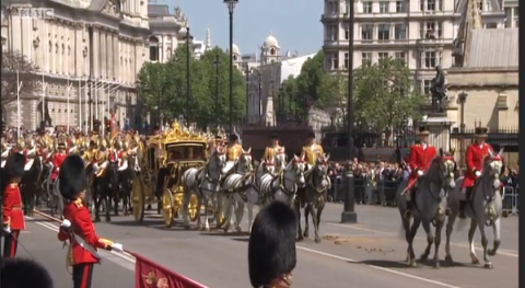 The Queen's Procession for the State Opening of Parliament. Image:@RoyalCentral