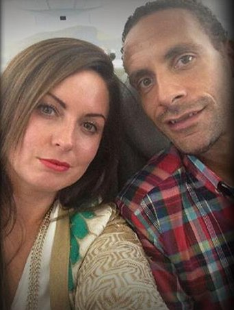Rio Ferdinand and his late wife Rebecca. Image @QPR