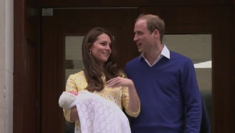 Duke and Duchess of Cambridge, William and Kate with their baby daughter