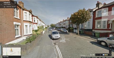 Murillo Road, Lewisham, SE13. Image: Google street View.