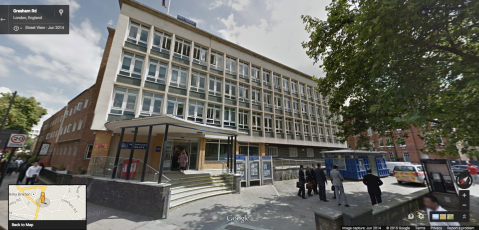 Brixton Police Station. Image: Google Street View.