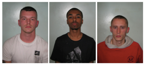 (L-R) Brooks, Sealey, Gittings. Images: Met Police.